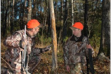 Bob Humphrey with fellow hunter in woods